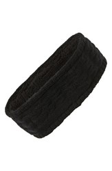 Echo Knit Headband Black