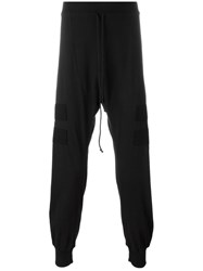 Lost And Found Rooms Lateral Patch Drop Crotch Leggings Black