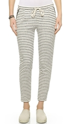 Splendid West Shore Stripe Sweatpants Black