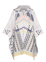 Peter Pilotto Ottaman Knit Wool Blend Cape Grey Multi