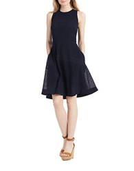 Donna Morgan Sleeveless Fit And Flare Dress Navy