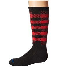 Smartwool Wintersport Buff Check Black Knee High Socks Shoes