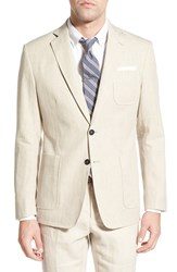 Men's Billy Reid 'Rustin' Standard Fit Linen And Cotton Sport Coat Dusty Brown