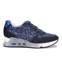 Ash Women's Love Lace Softy Flower Lace Trainers Indigo Saphir Blue