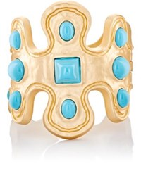 Kenneth Jay Lane Women's Cab Abstract Hinged Cuff No Color