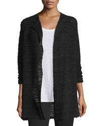 Eileen Fisher Hemp Long Cardigan Black Women's