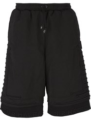 Nasir Mazhar 'Embroidered Three Layer' Bermuda Shorts Black