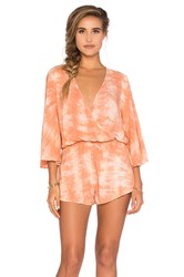 Blue Life Wild And Free Romper Peach