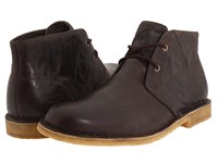 Ugg Leighton Chocolate Leather Men's Dress Lace Up Boots Brown