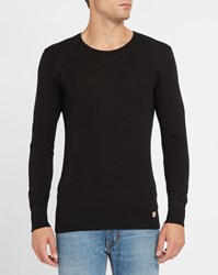 Armor Lux Charcoal Long Sleeve Wool And Cotton T Shirt Grey