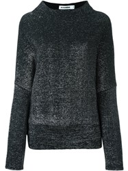 Jil Sander Metallic Effect Jumper Black