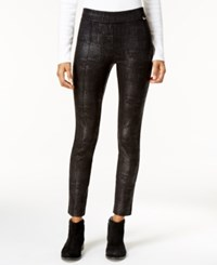 Calvin Klein Textured Coated Leggings Black
