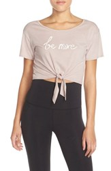 Women's Free People Knotted Graphic Tee Rose Pink Combo