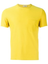 Romeo Gigli Vintage Ribbed T Shirt Yellow And Orange