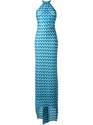 Missoni Long Knit Dress Blue