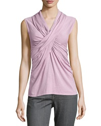 Natori Crisscross Sleeveless Knit Top Medium