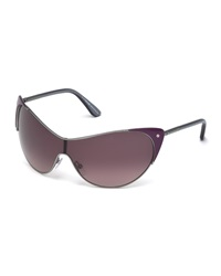 Tom Ford Vanda Metallic Butterfly Sunglasses Lilac Violet