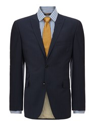 Corsivo Borbero Ticket Pocket Multistripe Suit Jacket Navy
