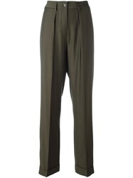 Maison Martin Margiela Mm6 Pleated Front Trousers Green