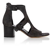 Rag And Bone Women's Matteo Double Buckle Sandals Dark Grey