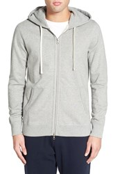 Men's Reigning Champ Trim Fit Full Zip Hoodie Heather Grey