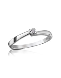 Forzieri 0.03 Ctw Diamond Solitaire Ring White Gold