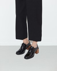 Christophe Lemaire Heeled Oxfords Black