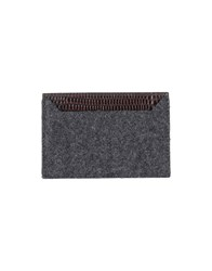 Dsquared2 Small Leather Goods Document Holders Men Steel Grey