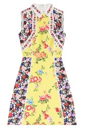 Mary Katrantzou Printed Silk Cotton Dress Multicolor