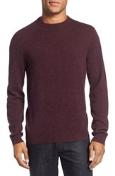 Nordstrom Men's Big And Tall Men's Shop Cashmere Crewneck Sweater Burgundy Fudge
