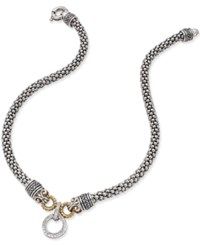 Macy's Diamond Mesh Drama Necklace 3 8 Ct. T.W. In Sterling Silver And 14K Gold Plated Sterling Silver