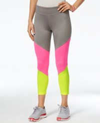 Energie Active Juniors' Liza Colorblocked Pull On Leggings Frost Grey