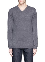 Ink V Neck Cashmere Sweater Grey