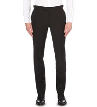 The Kooples Regular Fit Wool Trousers Black