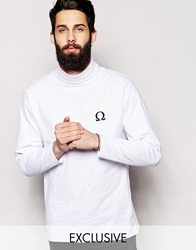 Reclaimed Vintage Turtle Neck Long Sleeved Top White