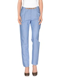 Sessun Trousers Casual Trousers Women Sky Blue