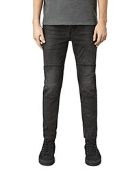 Allsaints Reynolds Biker Super Slim Fit Jeans In Black