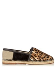 Dolce And Gabbana Leopard Print Calf Hair Espadrilles
