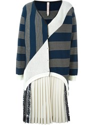 Antonio Marras Patch Striped Cardigan Blue