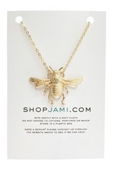 Jami Gold Bumble Bee Necklace Metallic