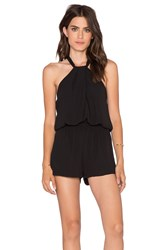 Eight Sixty Knotted Romper Black