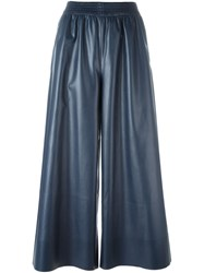 Cedric Charlier Elasticated Waistband Wide Pants Blue