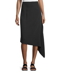 Joseph Asymmetric Crepe Bias Cut Skirt Black