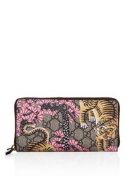 Gucci Bengal Zip Around Wallet Beige Multi