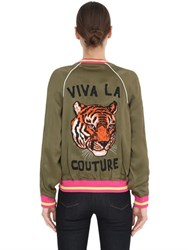 Juicy Couture Printed Viscose Bomber Jacket