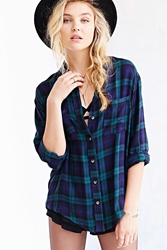 Bdg Tartan Plaid Button Down Shirt Green Multi