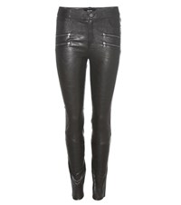 Paige Edgemont Leather Trousers Black