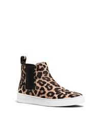 Michael Kors Keaton Cheetah Print Calf Hair Sneaker Natural
