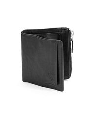 William Rast Zip Pocket Wallet Black