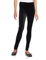 Lord And Taylor Petite Seamed Velvet Leggings Black